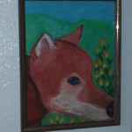 My Oil Pastel Fox Drawing
