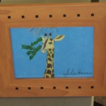 My Giraffe Drawing Is Now Framed