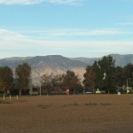 Looking Out Towards The San Bernardino Mountains
