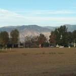 San Bernardino Mountains In The Distance