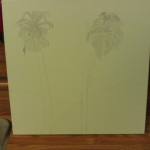 Outline Drawing of Palm Trees