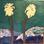 Painting The Palm Trees And The San Bernardino Mountains