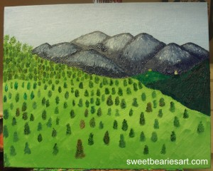 Painting The View of Mount Baldy