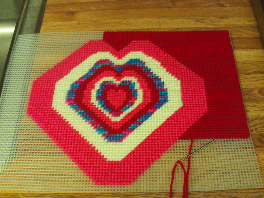 Cross Stitching The Heart Design